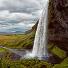 Seljalandsfoss Iceland on a soggy August afternoon